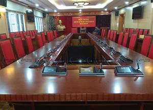 Hệ thống âm thanh phòng họp bosch dicentis tại Học viện chính trị