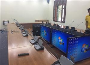 Lắp đặt âm thanh phòng họp restmoment rx-2305 tại công ty gạch thạch bàn