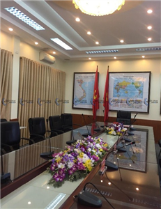 Lắp đặt âm thanh phòng họp JTS CS-1 tại học viện khoa học quân sự